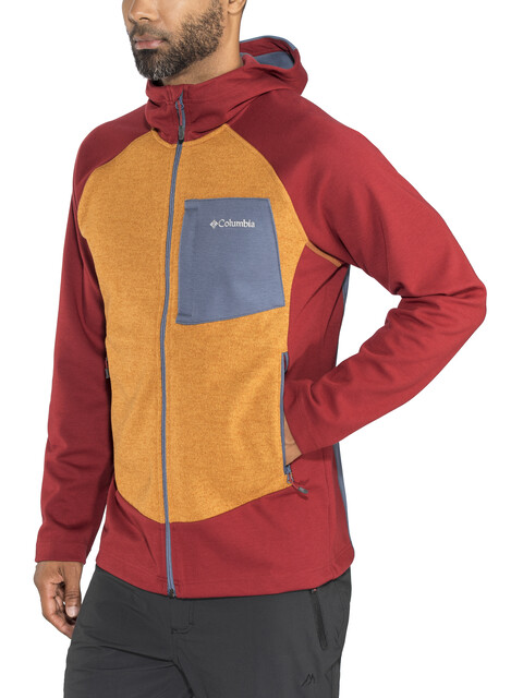Columbia Marley Crossing Hooded Hybrid Jacket Men Red Element/Canyon Gold